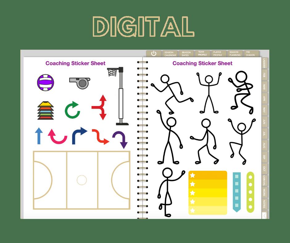 Digital Stickers Coach Drills